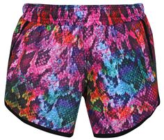 Whether you're at CrossFit, Pilates or smashing a spin class, the colourful Rainboa Loose Fit Workout Shorts boost your mood and support your moves.  In breathable polyester micro fabric with integrated underwear, these snakeskin print shorts wick away sweat, staying lightweight and opaque. Feel confident to squat, lunge and run thanks to the tie drawstring waistband that keeps them comfortably in place as you attack your PBs (personal bests). Pom Pom Shorts, Spin Class, Workout Shorts, Printed Shorts, Snake Skin, Squats, Boho Shorts, Underwear, Loose Fit