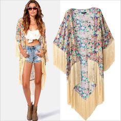 kimonos con flecos - Buscar con Google