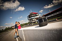 Love the race car themed session Engagement Photos - Black Dog Photo Co. - Love the race car themed session Engagement Photos – Black Dog Photo Co. Themed Engagement Photos, Engagement Couple, Engagement Pictures, Engagement Shoots, Engagement Photography, Wedding Engagement, Wedding Photography, Car Themed Wedding, Wedding Pictures