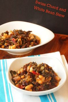 Swiss Chard and White Bean Stew
