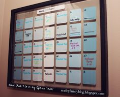 "more than 9 to 5...my life as ""Mom"": DIY Paint Chip Wall Calendar"