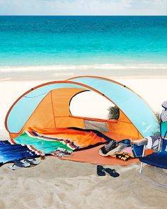 Solace from the sun is a snap with this portable pop-up shelter. Easy. Pop Up Beach TentBeach Shade ... & The 3 Best-Looking Beach Tents On The Sand This Season | Beach ...
