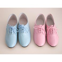 Pony oxfords flats in pastel tones ($42) ❤ liked on Polyvore