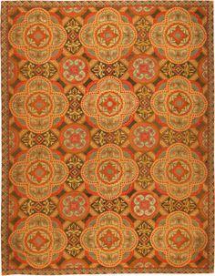 Antique Needlepoint English Rug 2633 Main Image - By Nazmiyal