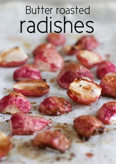 Butter roasted radishes from Amuse Your Bouche were featured in the February 2015 #DeliciouslyHealthyLowCarb Recipes Round-Up on KalynsKitchen.com.  Who knew that roasted radishes were so good!