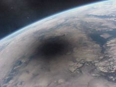 The shadow of solar eclipse