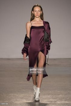 A model walks the runway at the Ssheena show during Milan Fashion Week Spring/Summer 2018 on September 25, 2017 in Milan, Italy.