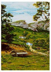 estrada Teresópolis - Friburgo = Acrílica