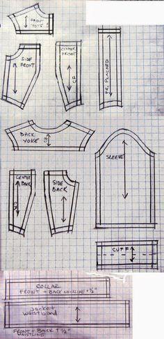 Джинсовый костюм для Барби выкройка+ мини Мк   16 фотографий