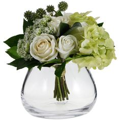 LSA International Flower Clear Table Arrangement Vase - 11.5cm (34 CAD) ❤ liked on Polyvore featuring home, home decor, vases, flowers, plants, clear, glass centerpieces, glass home decor, lsa international vase and floral home decor