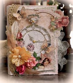 ELITE4U Reneabouquets The Little Things Keepsake Box Premade Scrapbook Prima | eBay