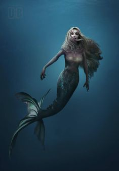 I love all fantasy and mythical stuff, but my favorite ones are mermaids.So this is a collection of mermaid images I've been picking all over the internet. Mermaid Artwork, Mermaid Drawings, Mermaid Tattoos, Mermaid Paintings, Mythological Creatures, Mythical Creatures, Sea Creatures, Siren Mermaid, Mermaid Fairy