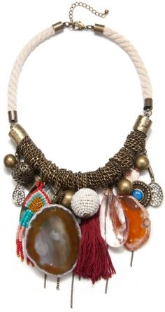 Wrapped Chain and Rope Necklace