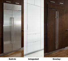 overlay vs built in vs integrated refrigerators what s Luxury Appliances, Built In Refrigerator, Integrated Fridge, Kitchen Design, New Homes, House, Simple Kitchen, Kitchen And Bath, Bathroom Design