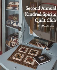 Sew up six beautiful Civil War era inspired quilts in the Second Annual Kindred Spirits Quilt Club. Each month you will be sewing one of these gorgeous Small Quilts, Mini Quilts, Quilt Kits, Quilt Blocks, Quilting Projects, Quilting Designs, Churn Dash Quilt, Hanging Table, Miniature Quilts