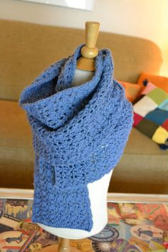 rib and lace reversible shawl/scarf - free pattern