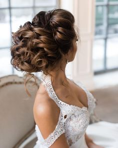 curly updo wedding hairstyle   loose updos for weddings Some messy updos are not as easy as they might ... Big Braid: This big bad braid is loose and lovely