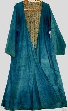 Antique indigo dress from Uzbekistan