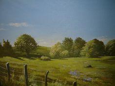 "simple little landscape, acrylic on canvas, 8 X 10"""