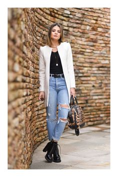 13 trucos para verte visualmente ms alta winter outfits ideas for women 2019 Warm Outfits, Boho Outfits, Stylish Outfits, Fashion Outfits, Womens Fashion, Preppy Trends, Look Star, Looks Jeans, Look Office