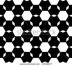 Vector monochrome seamless pattern, repeat ornamental background, angled geometric tiles. Abstract black & white endless backdrop. Illustration of football ball texture. Design for prints, decoration