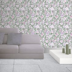 Rose Trellis x Metallic Finish Wallpaper Roll East Urban Home Colour: Purple Trellis Wallpaper, Star Wallpaper, Embossed Wallpaper, Purple Wallpaper, Wall Wallpaper, Rose Trellis, Tile Panels, Trellis Design, Hazelwood Home