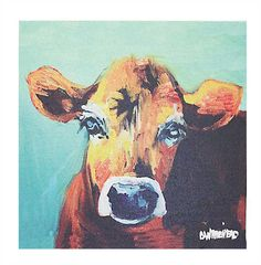 12%22 SQUARE CANVAS WALL DÉCOR W: COW IMAGE.jpg