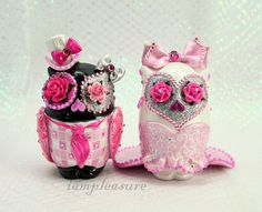 deco-owl wedding cake toppers! HOW CUTE!