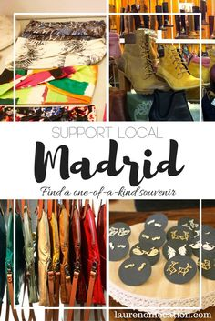 Support Local in #Madrid with a unique one-of-a-kind souvenir. Visit local…