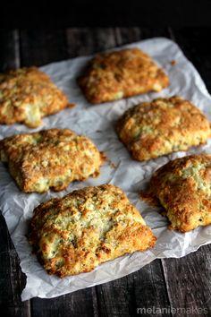 Blue Cheese Walnut Scones | Melanie Makes