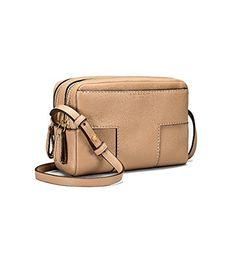 6ea34d58030e Tory Burch Block-T Double Zip Pebbled Leather Crossbody  handbag   shoulderbag  Savannah