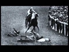 Suffragette, Emily Davision throws herself in front of King George V's horse at the Epsom Derby of 1913. This horrifying spectacle attracted even more national attention to the Suffraggete movement and growing call for equal rights of women. Her injuries resulted in her death four days later thus becoming a martyr for the cause of Womens Suffrage. Some have suggested that she had not originally attempted suicide but simply to disrupt the race.