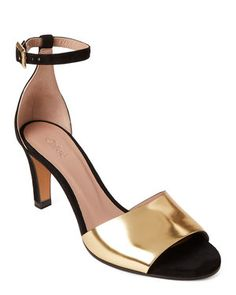 ee6d9557f Black   Gold Ankle Strap Suede Pumps Suede Pumps