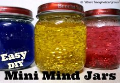 Easy mini mind jars for kids from Where Imagination Grows