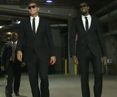 Blake Griffin and Deandre Jordan are the Men in Black.