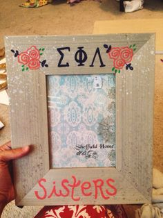 Craft ideas for your sorority sister. Sigma phi lambda!