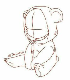 Little child in teddybear suit chibi base