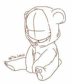 Little child in teddybear suit chibi base