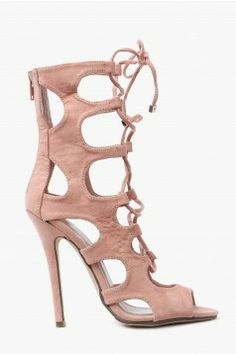 A sexy pair of lace up heels!