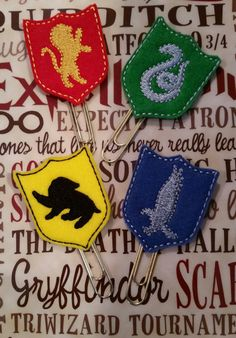 Magic harry potter Hogwarts house crest large by GeekyChicBowtique