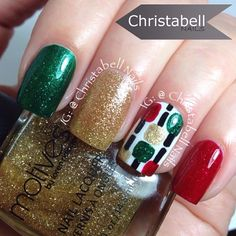 Like if you love today's Cosmetics - Hot! Retail or Wholesale Orders available for delivery to order line 08033818007 💅💅 Holiday Nail Art, Winter Nail Art, Christmas Nail Art, Winter Nails, Christmas Colors, Christmas Ideas, New Year's Nails, Get Nails, Love Nails
