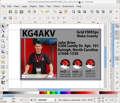 Tutorial for creating your own QSL cards.