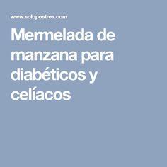 Mermelada de manzana para diabéticos y celíacos