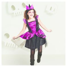 Halloween Girls' Basic Bat Witch Costume - L (10-12) - Hyde and Eek! Boutique, Black Pink