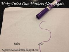 Happiest Mom on the Blog: Make dried out markers new again.
