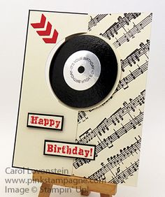 For the Record….You Rock! Hubby's Birthday A Fitting Occasion, Grunge Rock, Music Notes Carol Lovenstein - Stampin' Up!