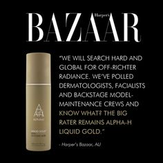 Off-Richter Radiance found right here! @harpersbazaarus, dermatologists, facialists and backstage model-maintenance crews all agree - Liquid Gold, is brilliance in a bottle.