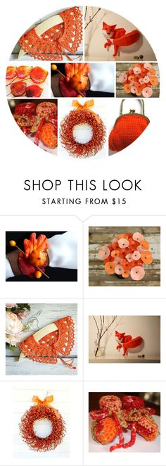Orange by andreadawn1 on Polyvore featuring orange, etsy, friday, handmade and etsymntt