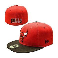 Mens Chicago Bulls 59FIFTY Team Logo Fitted Hat. New Era ... fc44d81adab5