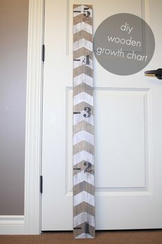 wooden growth chart diy - quick and easy, even those with craft ADD can do it!